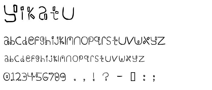 Yikatu font