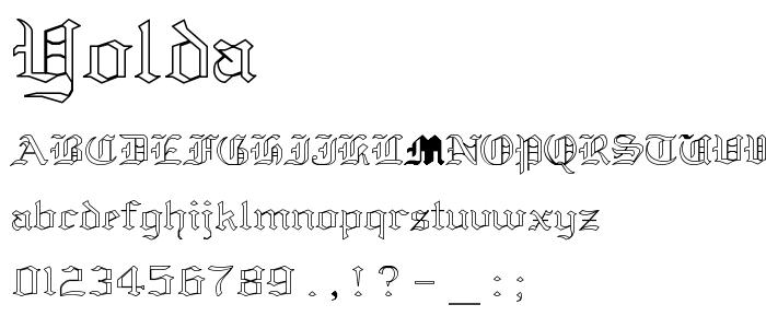 Yolda font