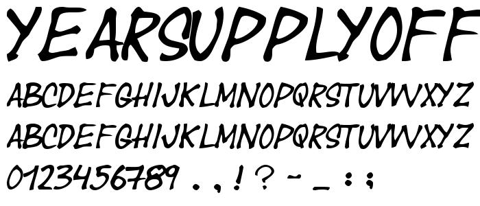 Yearsupplyoffairycakes font