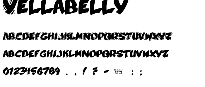 Yellabelly font