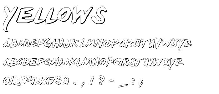 Yellows font