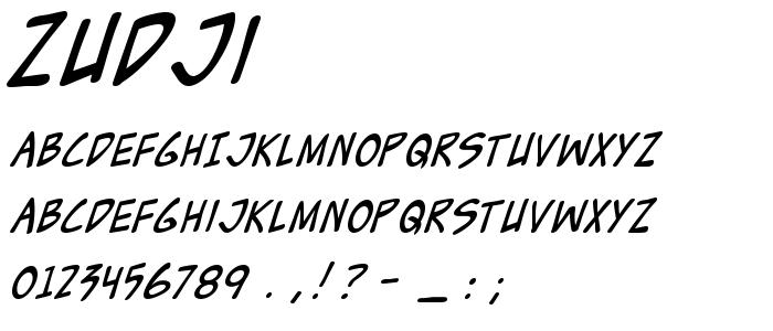 Zudji font