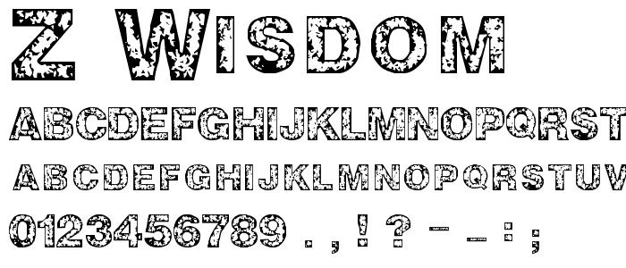 Z_WISDOM.TTF font