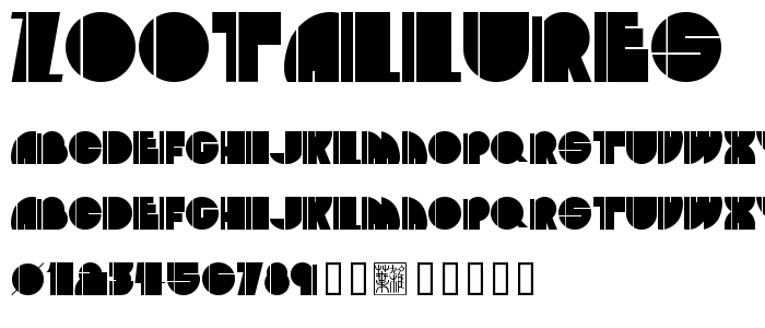 Zootallures font