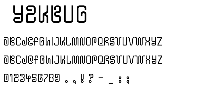 Y2kbug font