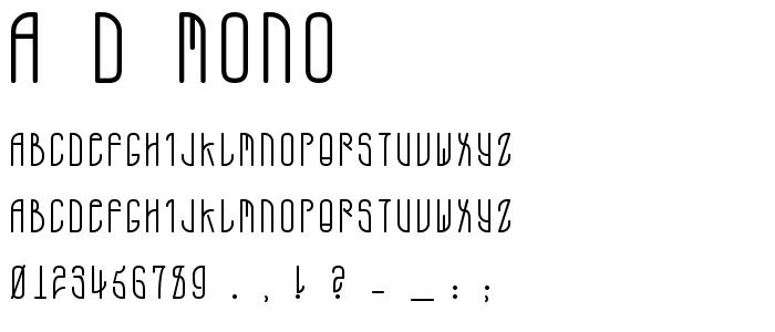 A D Mono font