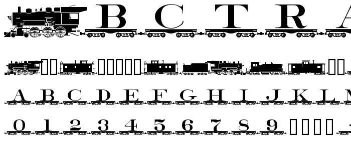 Abctrain font