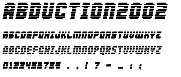 Abduction2002 font