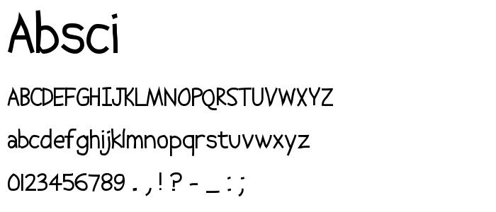 Absci font
