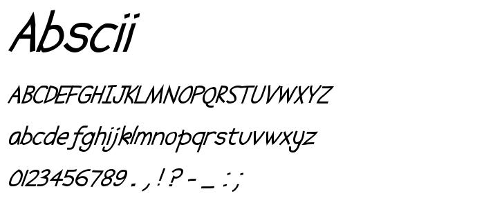 Abscii font