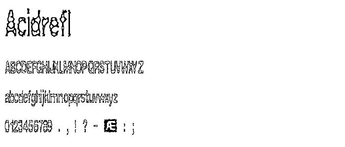Acidrefl font