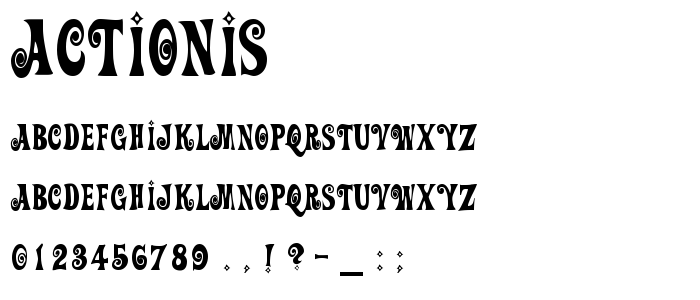 Actionis font