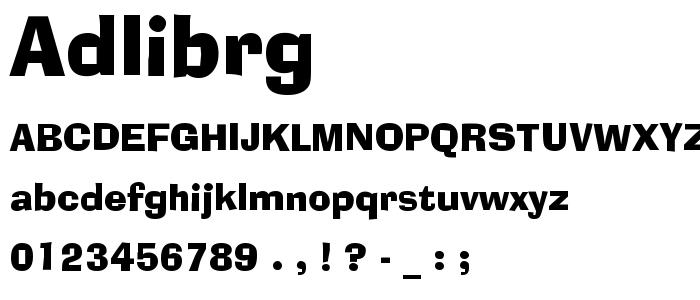Adlibrg font