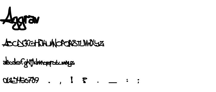 Aggrav font