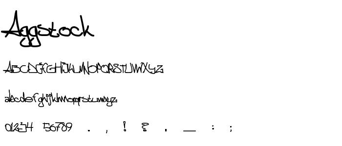 Aggstock font