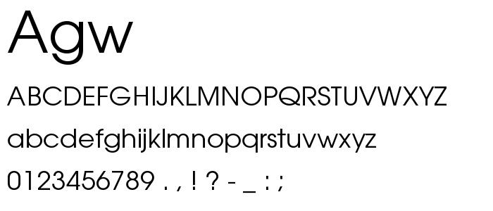 Agw font