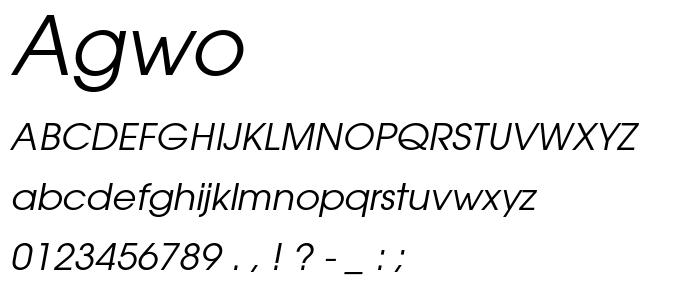 Agwo font