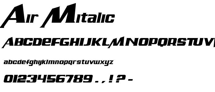 Air Mitalic font