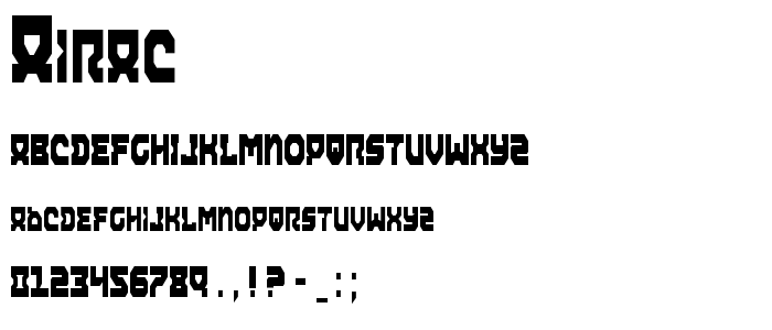 Airac font