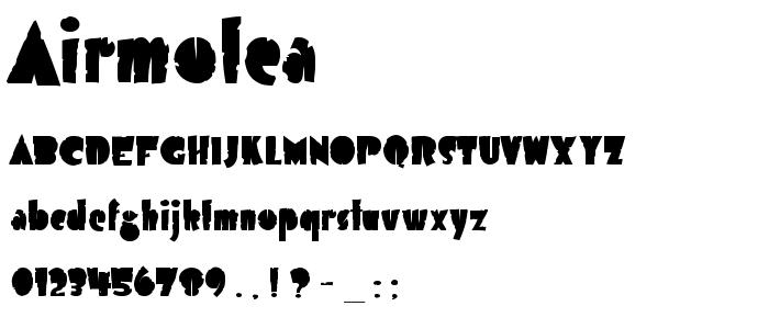 Airmolea font