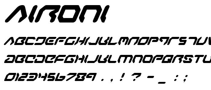 Aironi font
