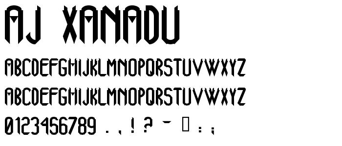 Aj Xanadu font
