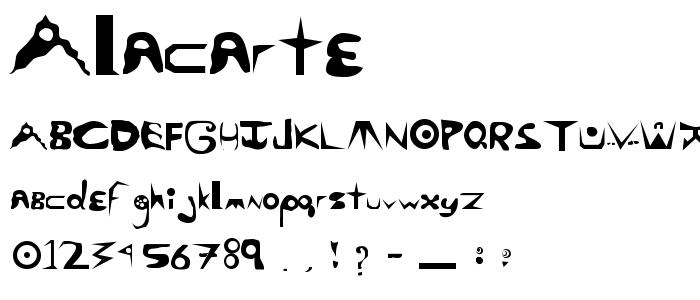 Alacarte font