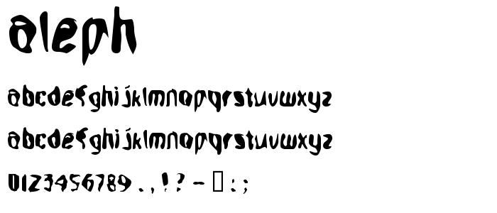 Aleph font