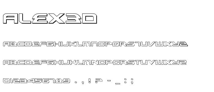 Alex3d font