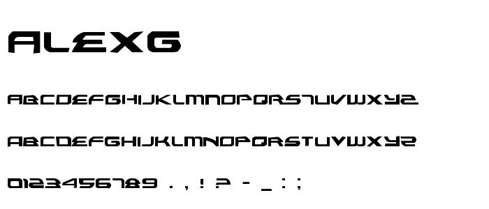 Alexg font