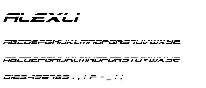 Alexli font