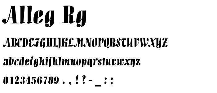 Alleg Rg font