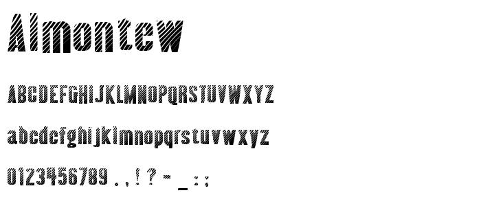 Almontew font