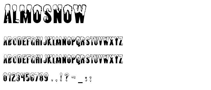 Almosnow font