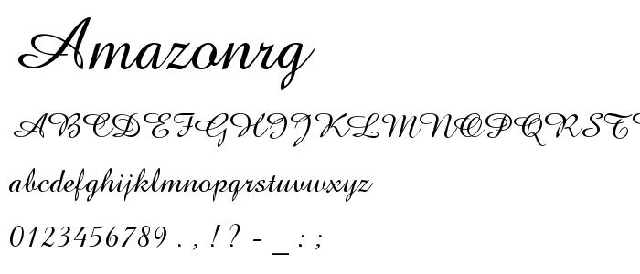 Amazonrg font
