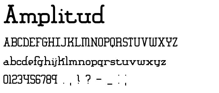 Amplitud font