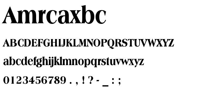 Amrcaxbc font