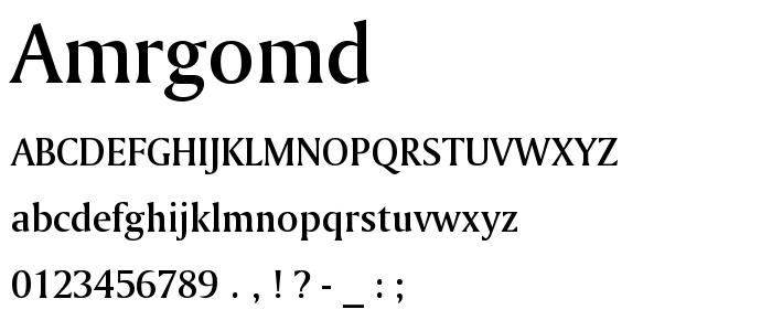 Amrgomd font