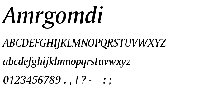 Amrgomdi font