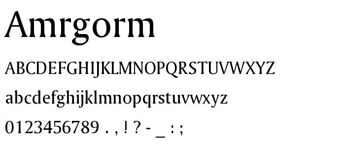 Amrgorm font