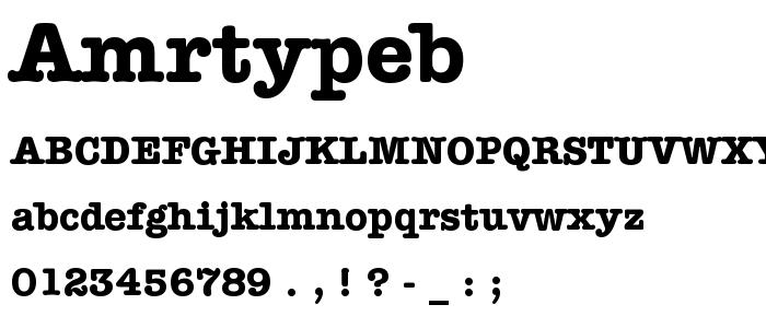 Amrtypeb font