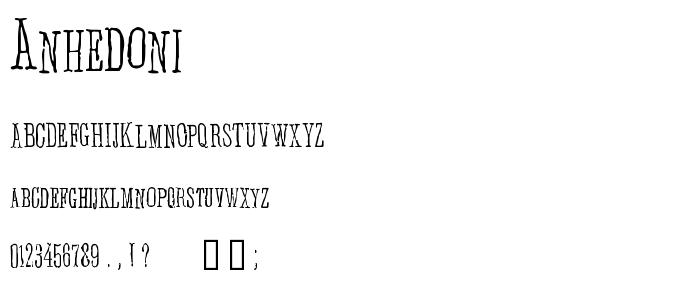 Anhedoni font