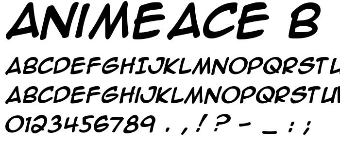 Animeace B font