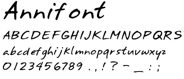 Annifont font