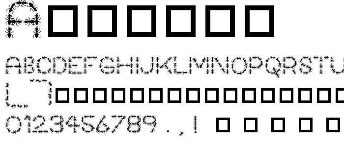 Antpile font
