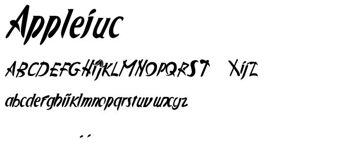 Applejuc font