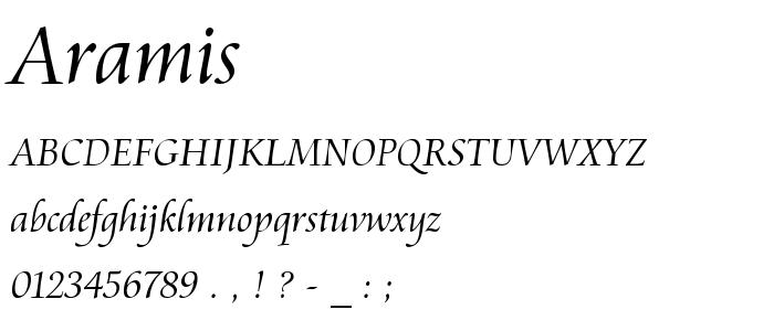 Aramis font