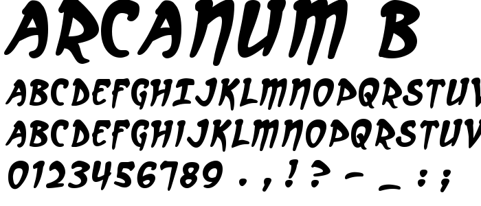 Arcanum B font