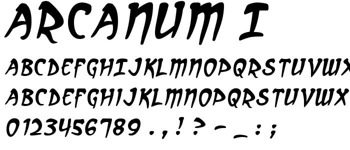 Arcanum I font