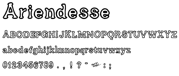 Ariendesse font